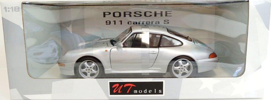 SUPER RARE UT MINICHAMPS PORSCHE 911 993 Carrera S argent 1 18 comme neuf en boîte