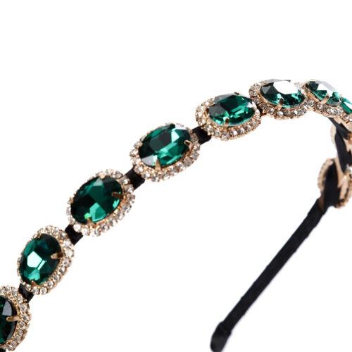 Beautiful Women Retro Clock Rhinestone Headband Crystal Hair Band Hair Accessory