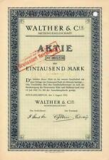 Lot 10 x Walther & Cie AG Köln Dellbrück histor. Aktie 1922 Total Wertpapier NRW