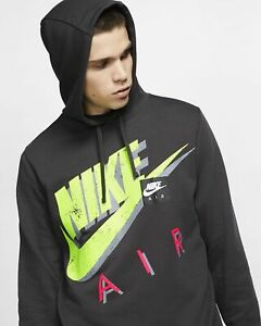 Details about Nike Sportswear Men's Pullover Hoodie Vintage Graphics and Retro Colors Size M