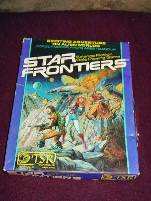 TSR 1990-Star Frontiers Boxed Set  Alien Worlds of Conflict (non perforé)