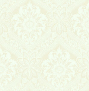 Victorian Damask Wallpaper White Cream Vintage Arts And Crafts