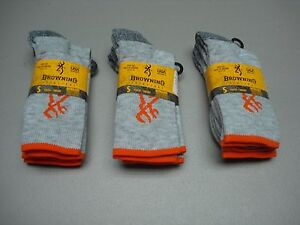 NWT-Boy-039-s-Youth-Browning-Ultra-Dri-Moisture-Wicking-Socks-6-Pair-Size-S-450D