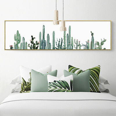 Catcus Watercolor Art Oversized Wall
