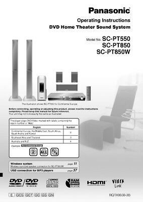 Pdf download | panasonic sc-pt850 user manual (48 pages).