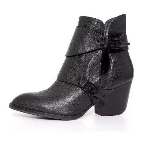 Shellys London Negro Cuero Mujeres Tobillo botas botas botas Talla 7 EE. UU. 5247   precios mas bajos