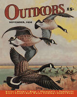 Duck Hunting Vintage Magazine Poster Art Commander Ducks Antique Decoys Mag35