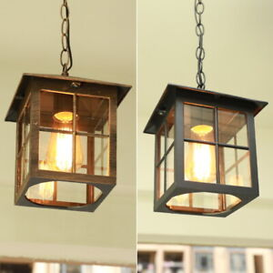 Details About Outdoor Pendant Light Garden Lamp Home Chandelier Lighting Gl Ceiling Lights