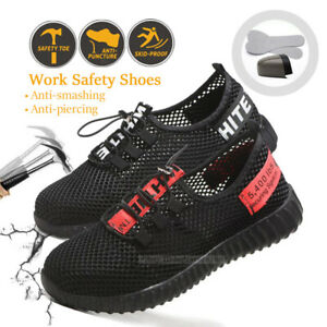 Mens mesh Safety Shoes Boots Steel Toe