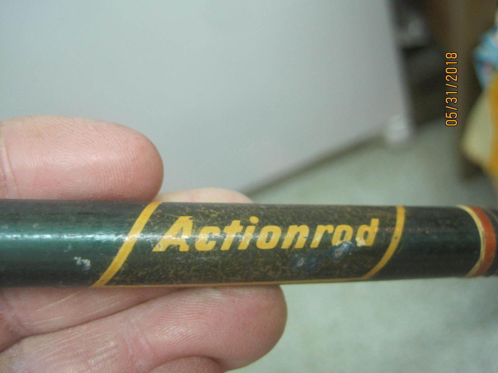 Vintage Actionrod Fishing Rod Wood Handle