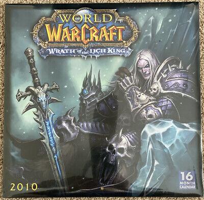 Rare New World Of Warcraft Wrath Lich King 2021 2010 16 Month Wall Calendar 9781416282891 Ebay
