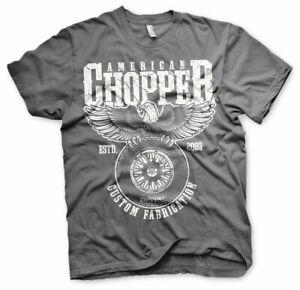 Licenza-Ufficiale-American-Chopper-Personalizzato-Tessitura-Uomo-T-SHIRT-S-XXL