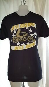 Hells-Angels-Kent-Custom-Bike-Show-1992-Black-T-Shirt-Cotton-Memorabilia