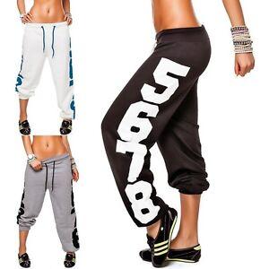 Damen-laessige-Hose-Sporthose-Jogginghose-Trainingshose-Freizeithose-Gr-S-XL