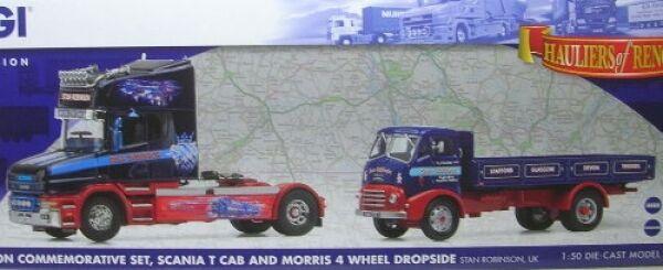 Stan Robinson Commemorative Set Scania T Cab and Morris 4 Wheels Dropside