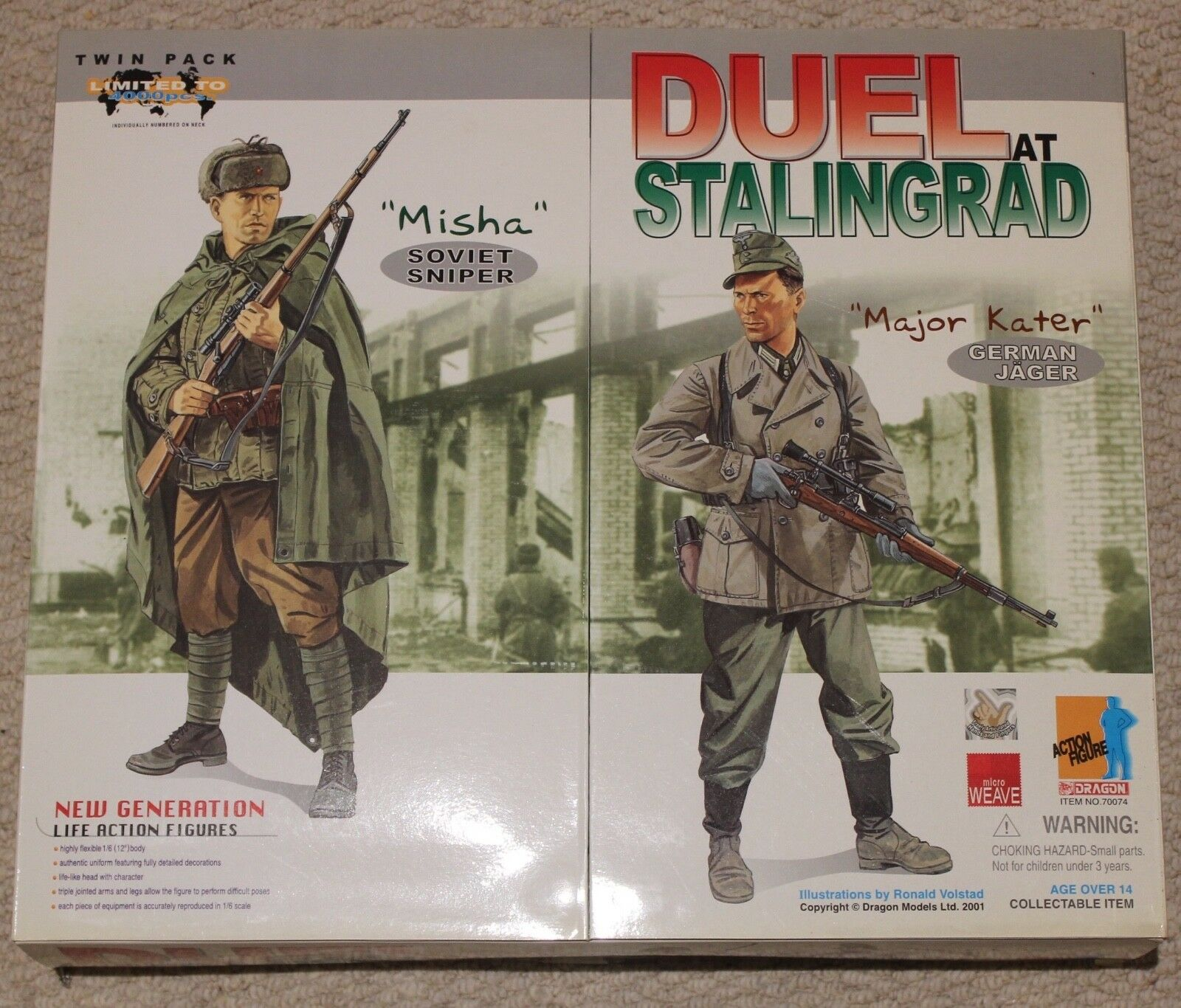 Dragon action figure ww11 german russian 1/6 12'' boxed 70074 did cyber