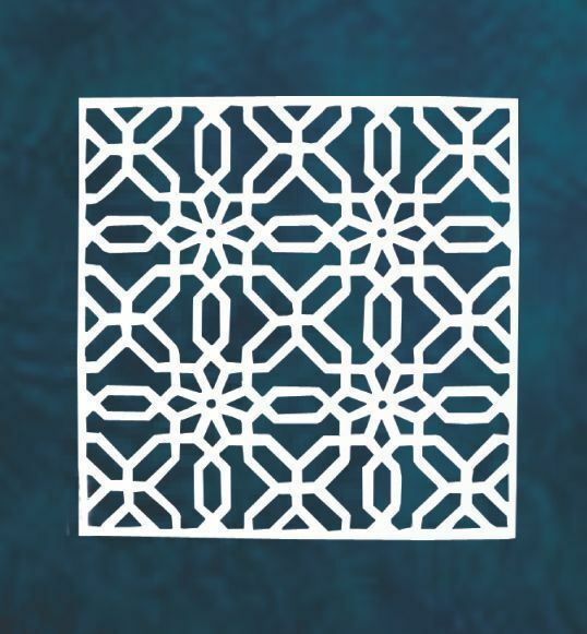 White Patterned Hanging Wall Art  30cm x 30cm x 4cm
