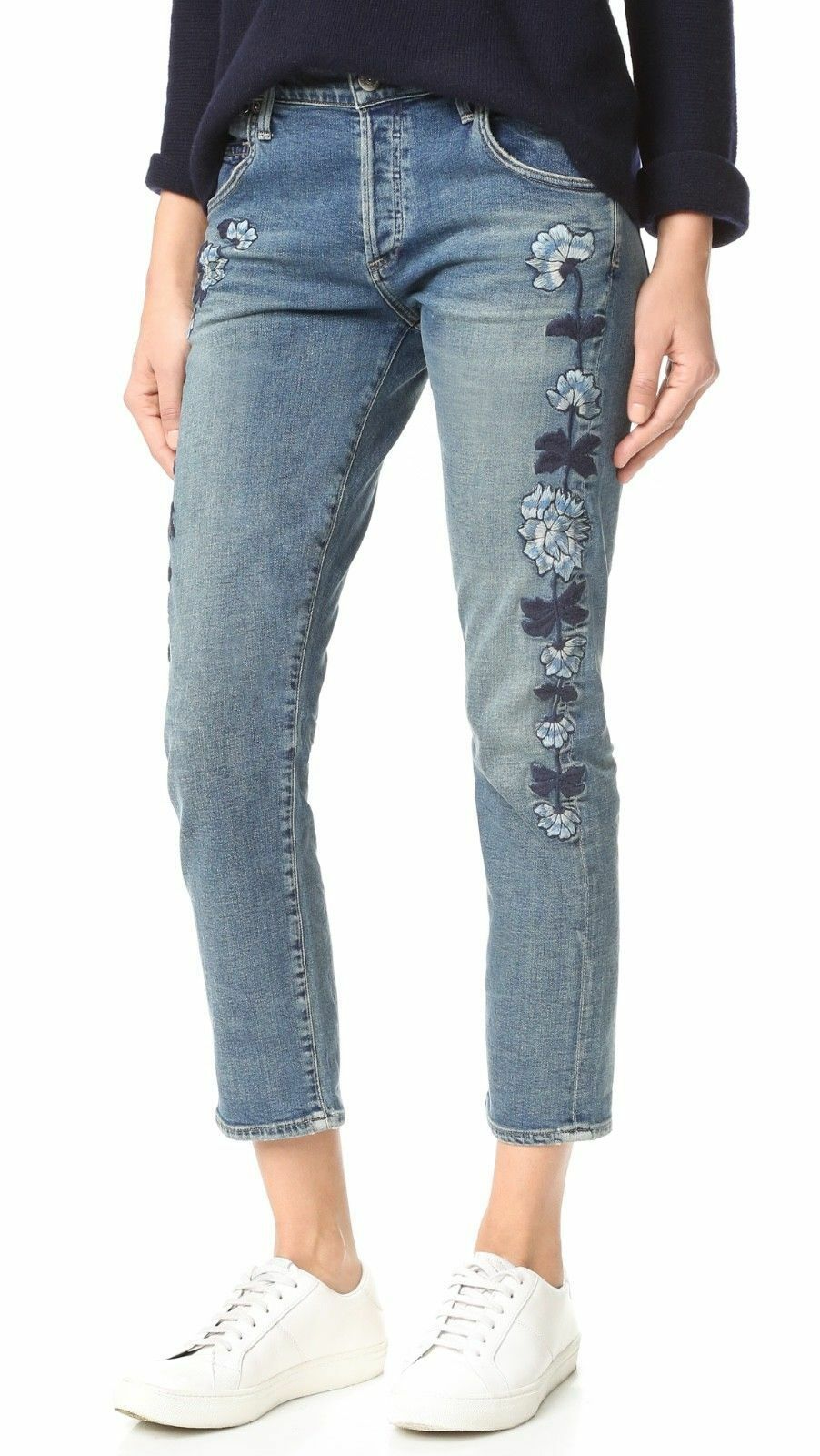 298 Citizens of Humanity Emerson Slim Boyfriend in Western pinks Embroidery 26