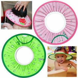 Baby-Kids-Bath-Hat-Shower-Shampoo-Visor-Eye-Shield-Wash-Cap-Hair-Waterproo-G5Z6