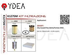 Filter Kit Intelligent City Coupe City Cabrio Fortwo (450) 800 CDI - Ydea K127SM