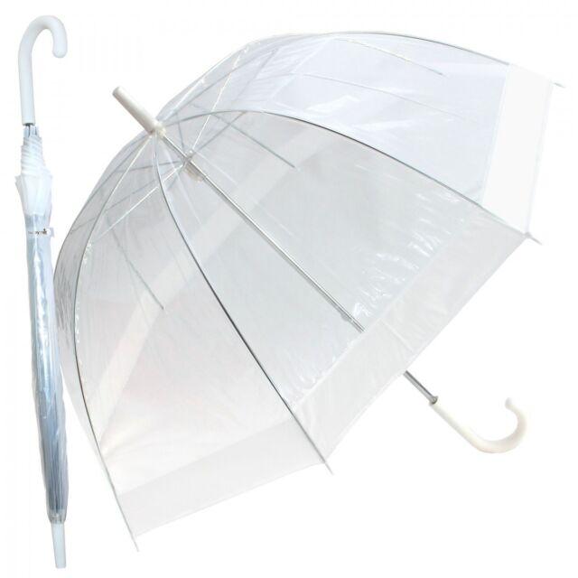 Regenschirm Transparent Durchsichtig Damen Glockenschirm Kuppel Hochzeit Fun