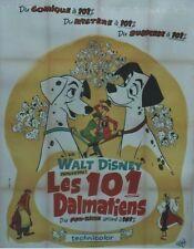 """""""LES 101 DALMATIENS (101 DALMATIANS)"""" Affiche originale entoilée1961 Walt DISNEY"""