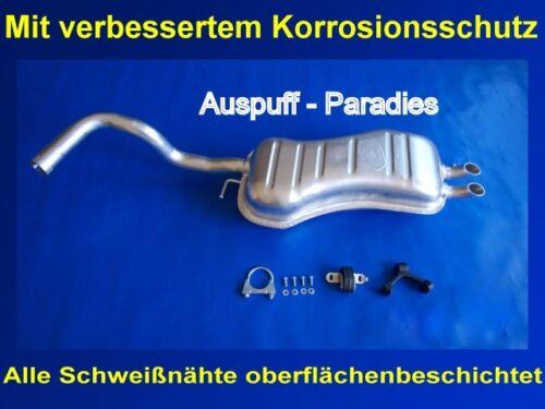 Kit Endschalldämpfer Auspuff Endtopf VW New Beetle 2.3 V5 Fließheck /& Cabrio