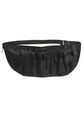 New EMI LARGE Nylon Medical Nurse Apron Pocket Organizer Pouch Tool Belt - Black
