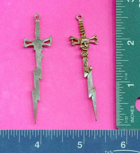 lead free pewter lightning sword pendant 5022