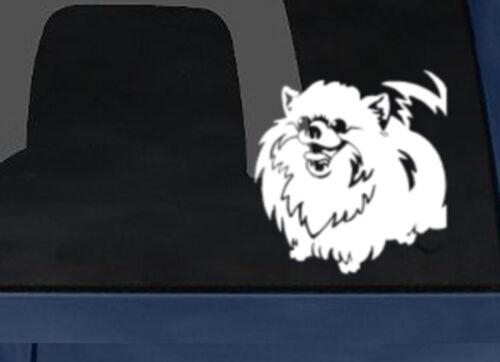 Car Tablet Vinyl Decal Dog Breed Happy Pomeranian