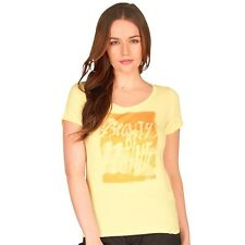O'NEILL Womens Tender Yellow Outrigger Short Sleeve T-Shirt Top XL 16 BNWT