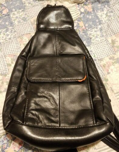 79e54e87e1 Embassy Lupurse17 Solid Genuine Leather Hobo Sling backpack Purse for sale  online