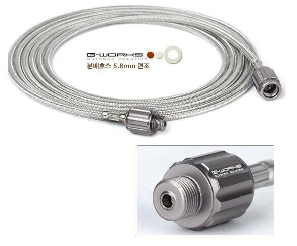 G-WORKS Gas Distribution Hose  -Stainless Steel Wire Braid(Screw type for Butane)  low prices