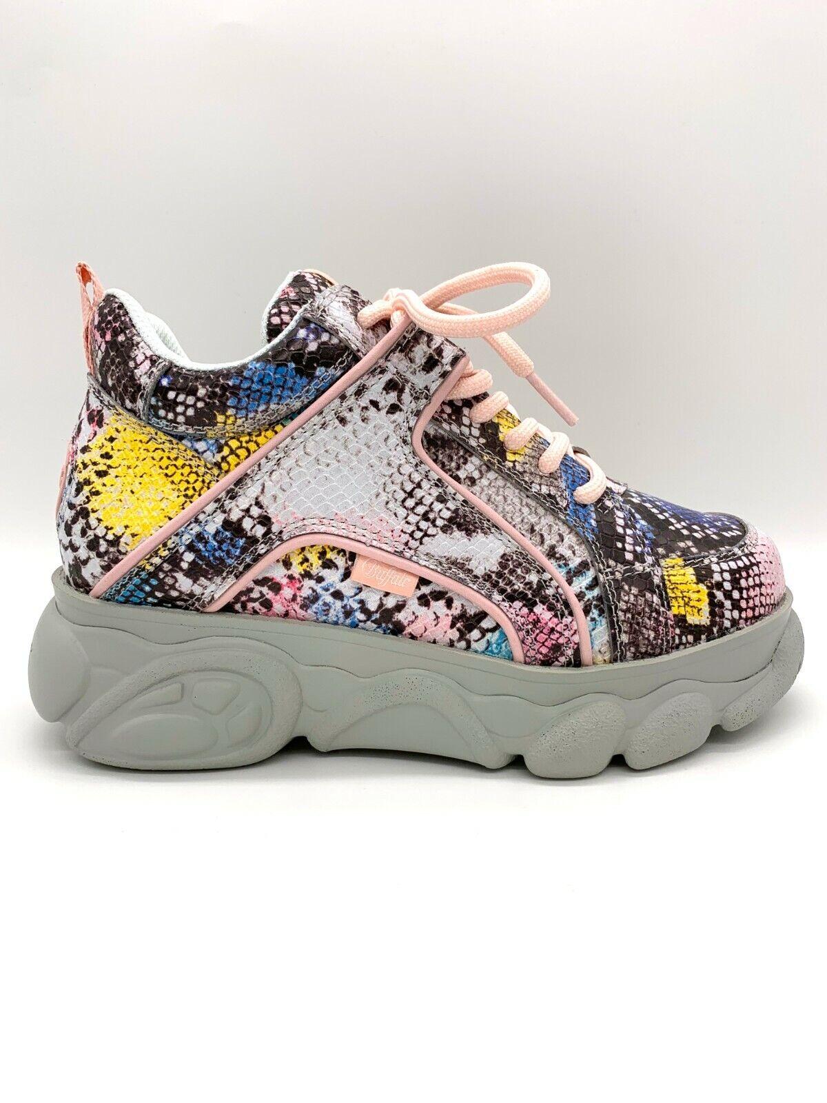 Details about Buffalo Boots Shoes Sneaker Platform Shoes 90er Limited Snake Multi Color show original title