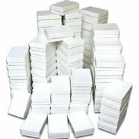 100 Cotton Boxes White Pendant Chain Jewelry Displays 3.25, New, Free Shipping on Sale