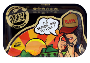 """RAW Rolling Papers Tray New Small """"RAW Brazil Tray"""" by JBatista"""