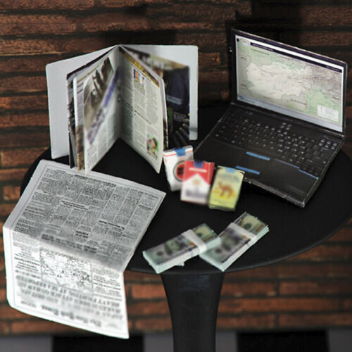 Modello IN SCALA 1:6 Laptop PORTASIGARETTE Giornale per 12 Action Figure Hot Selling