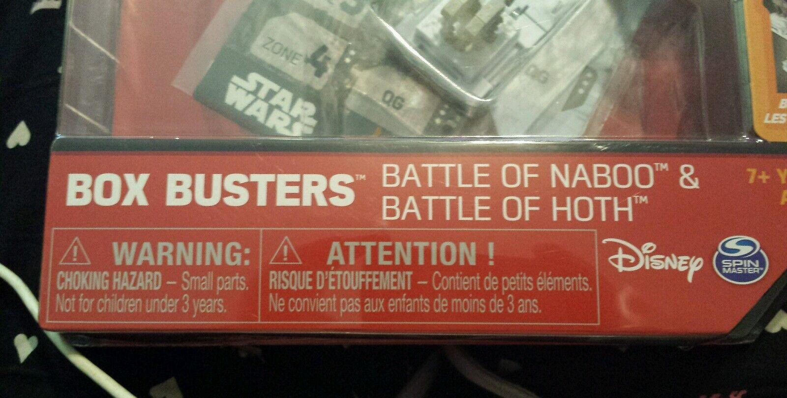 NIB Star Wars Box Busters Battle of Naboo Naboo Naboo & Battle of Hoth 0555ae
