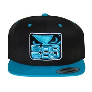 Bad Boy MMA Black Blue Snapback Cap Adult Hat Urban Street UFC Cage ... 754ae59e6590