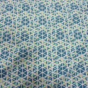4422493a67b91 Das Bild wird geladen Stoff-Meterware-Baumwolle-petrol-gruen-blau-Mosaik- Grafik-