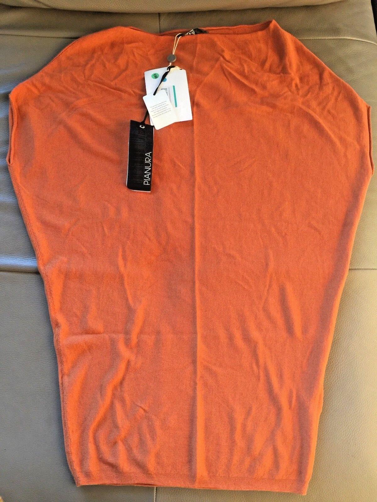 Wool mix Orange sack DRESS PIANURASTUDIO new with tags stretchy S