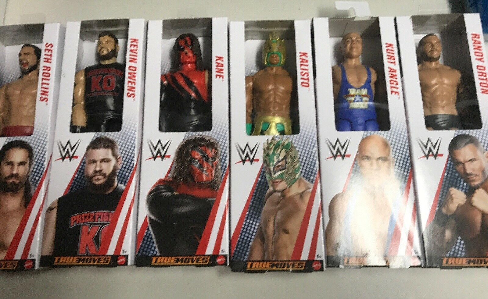 WWE Mattel True Moves New Figs Figs Figs 2019 Hot Rollins Owens Angle Orton & More   Lot 51a