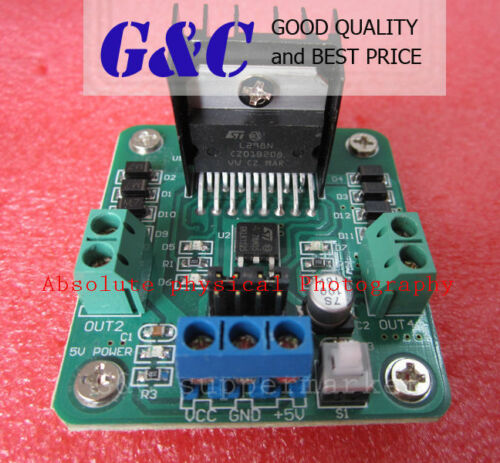 2PCS L298N Dual Stepper Motor Driver Controller Board Module NEW GOOD M12