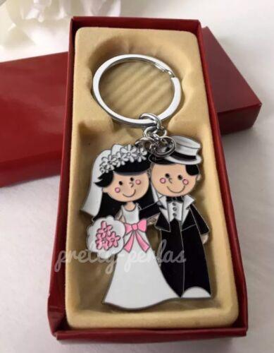 100-Wedding Party Favors Couple Giveaways Keychains-Llaveros Recuerdos De Boda