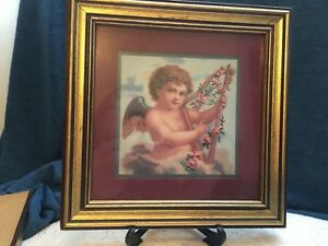 Details About Home Interiors Gifts Angel W Harp Picture Frame