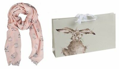 Wrendale Designs Flight Of The Bumble Bee  scarf Pastel Blue Scarf FREE GIFT BAG