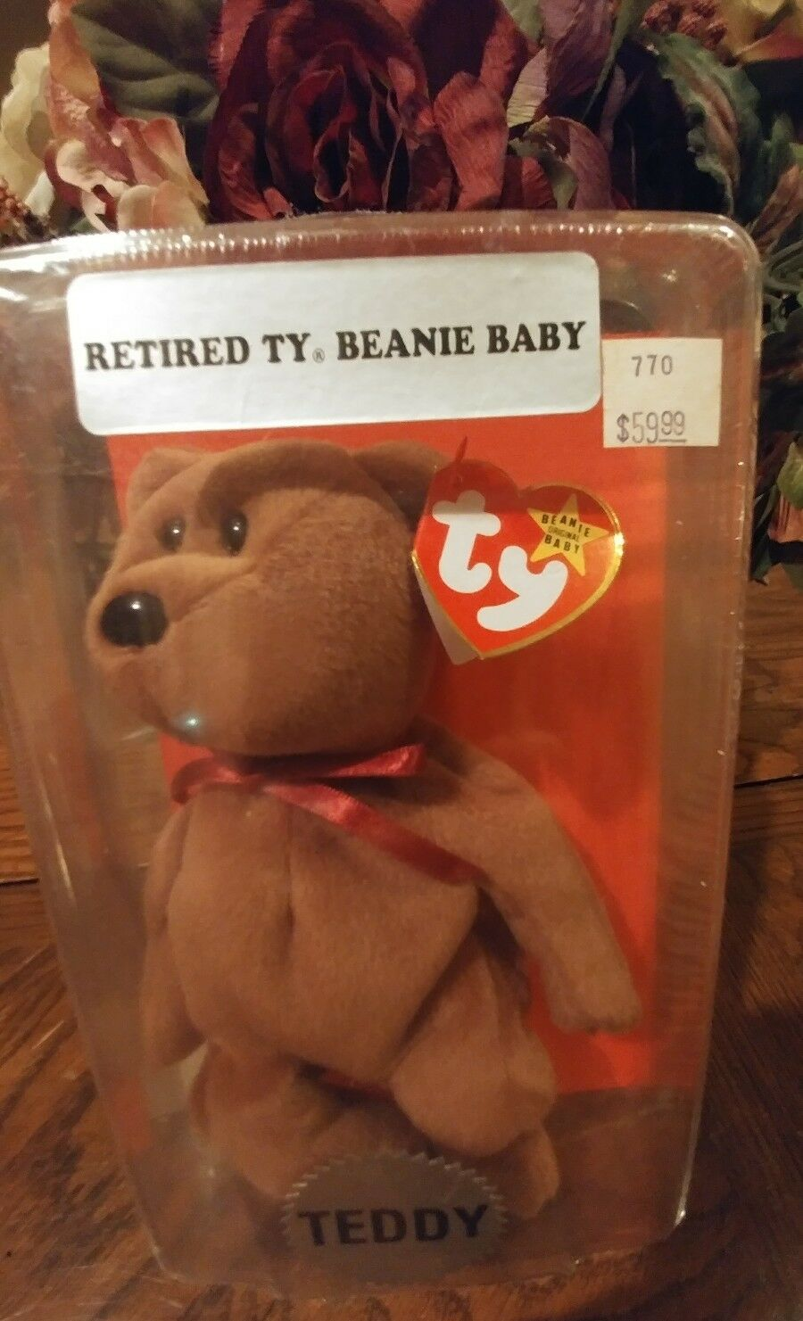 TEDDY TY Beanie Baby Retired SEALED Mint