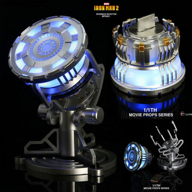 King Arts 1//1 Movie 2 MPS021 Iron Man 2 LED Light Up Arc Reactor New
