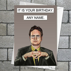 Image Is Loading American Office Dwight Schrute Personalised Birthday Card 5x7