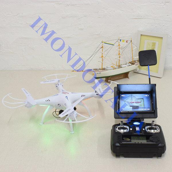 DRONE SYMA X5SC-1 FPV 5.8G   VEDI DIRETTAUomoTE SUL MONITOR